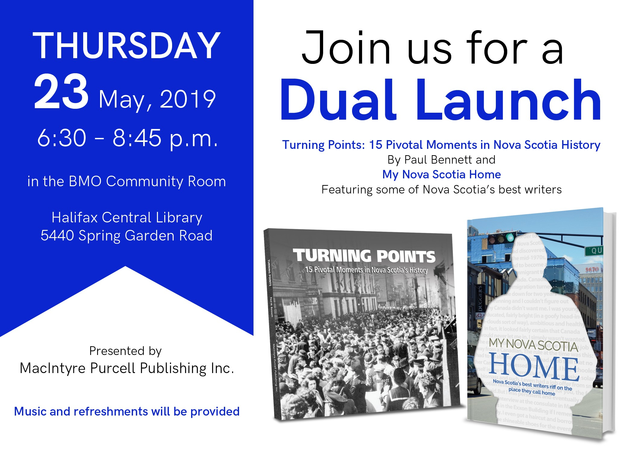 Dual Launch May 23 Turning Points and My Home